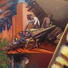 6b. Apocalipsis II | 2013 | Óleo sobre tela | 130 x 65 cm