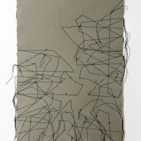 Verde enramada|2014| Dibujo, costura|Leonardo Nieves