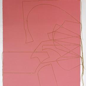 Leonardo Nieves | Estructuras 19:14.3 | 2014 | Dibujo costura | 56 x 38 cm