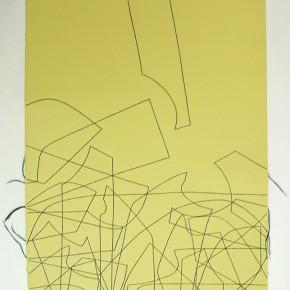 Leonardo Nieves | Estructuras 17:14.2 | 2014 |Dibujo costura | 56 x 38 cm